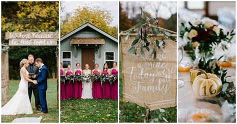 Elegantly Rustic Fall Barn Wedding In Ohio