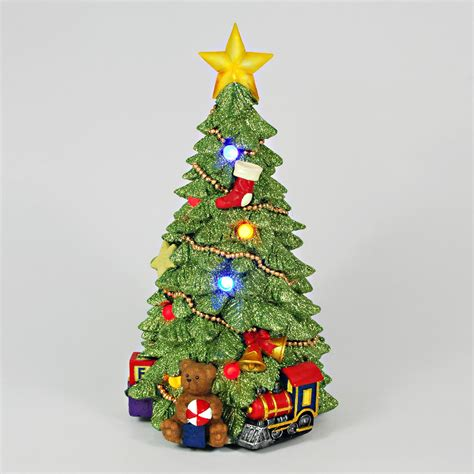 table top christmas trees with lights trim a home led table top tree led light up christmas tree