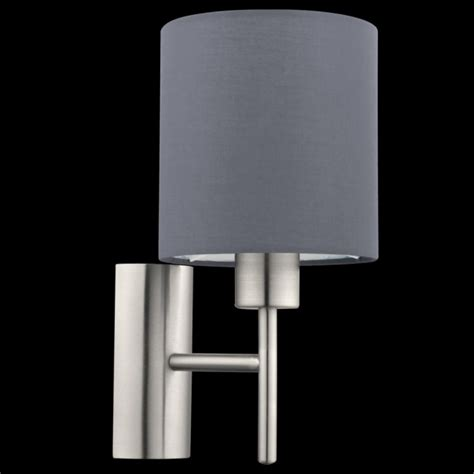 bedroom wall lights uk this is a 1 light wall light complete with a matt grey shade 14465 | 1466092204 96916300