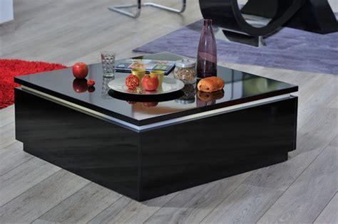 cuisine bourgeoise table basse electra laque noir noir brillant