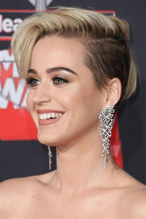 Katy Perry Straight Dark Brown Side Cut Two Tone