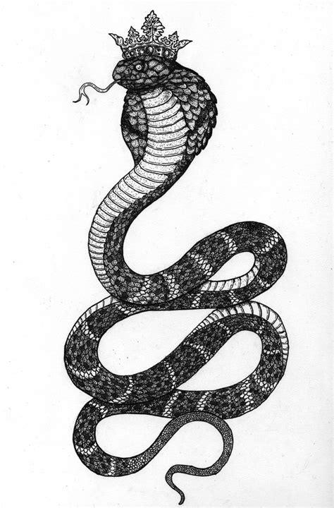 idea   crown ink cobra tattoo snake