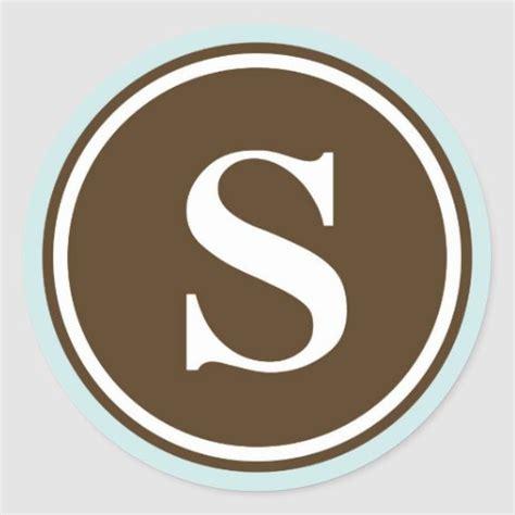 initial  monogram circle letter seal party favor classic  sticker zazzle