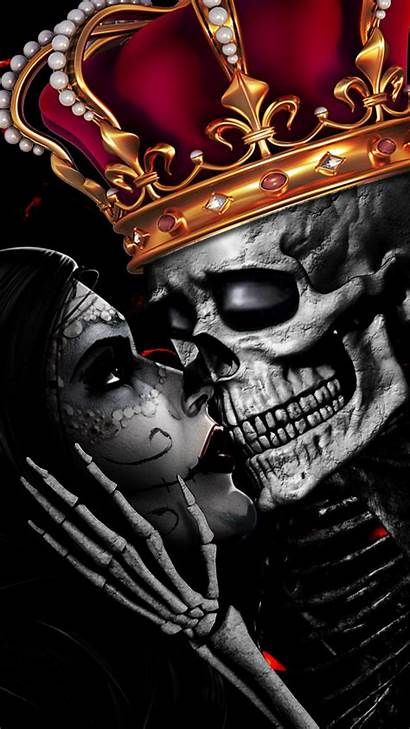 Skull King Romance Crown Kiss Cool Eternal