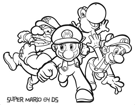 Coloring Pages Mario Characters