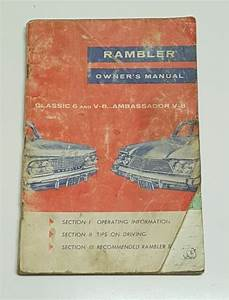 1960 Amc Rambler Owners Manual Operators User Guide Book