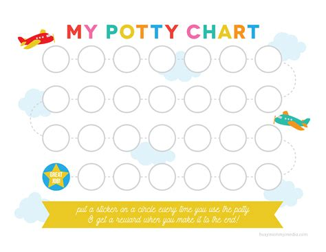printable potty training chart
