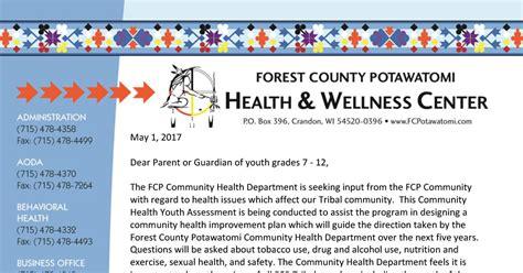 Cha 2017 Youth Permission Slip Community Health