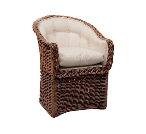 classic bowed front dining chair wicker material