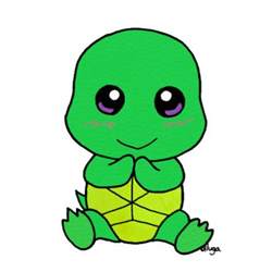 Cute Cartoon Baby Turtle
