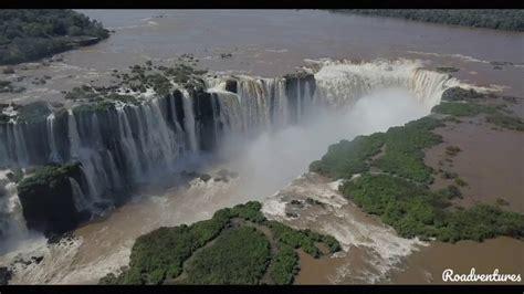 iguazu falls  taste  paradise filmed   drone youtube