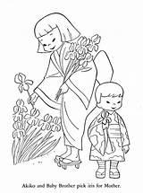 Children Japan Lands Coloring Pages Korea China Around 1954 Burma India Arabia Icolor Books Qisforquilter Crafts Diy Visitar Cartoon Sheets sketch template