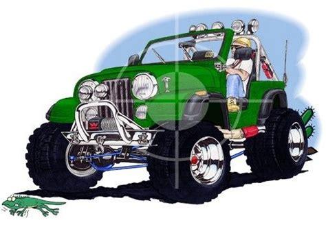 cartoon jeep wrangler jeep cj wrangler off road cartoon tshirt 4900cj ebay