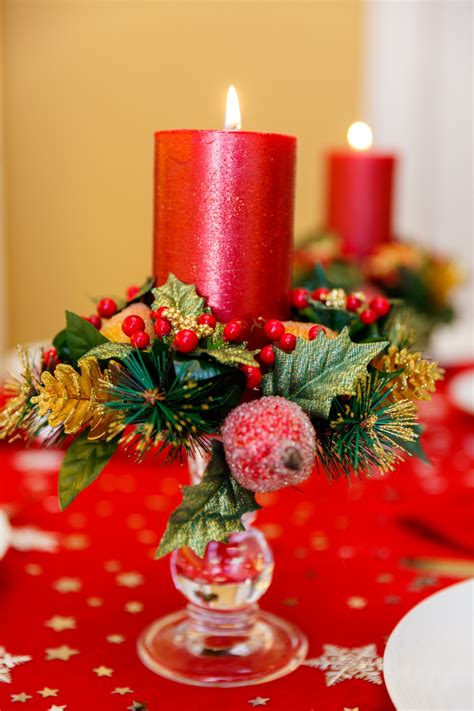 candles for christmas table christmas table candles free stock photo public domain