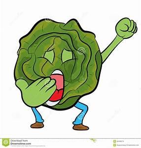 Cabbage Cartoon Character Stock Illustration - Image: 42468574