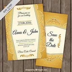 stylish golden wedding invitations vector free download With golden wedding invitations free downloads