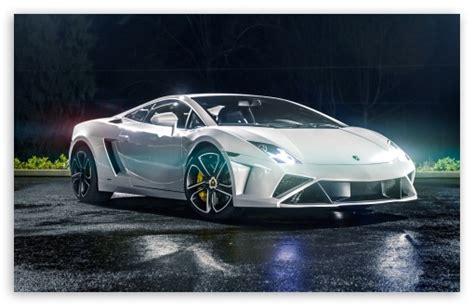 White Lamborghini Gallardo 4k Hd Desktop Wallpaper For 4k