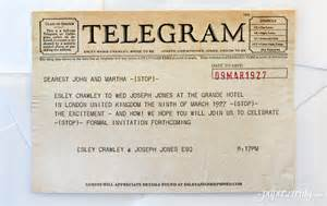 Wedding Telegram Save the Date