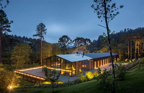 House In The Forest by Metallic Structure House In The Midst Of A Beautiful