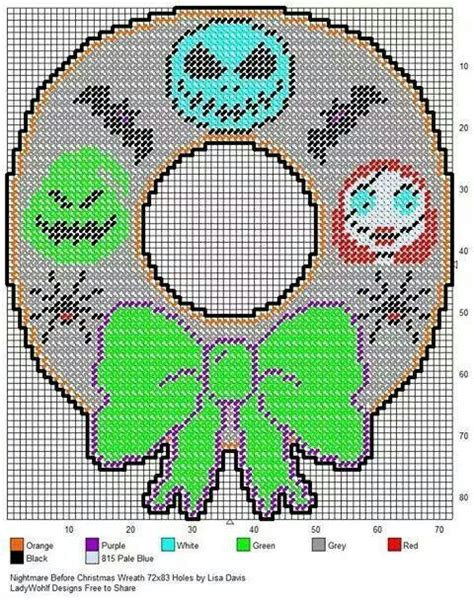 plastic canvas pattern for nightmare before christmas