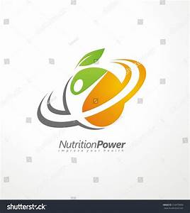 Organic Health Food Creative Symbol Layout Stock Vector ...