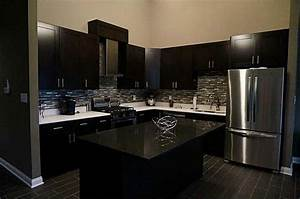 Modern Kitchen with L-shaped & Slate counters in Fishers