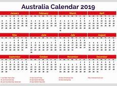 Australia 2019 Calendar printcalendarxyz