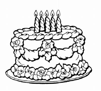Coloring Cake Birthday Pages Printable Sheets Happy
