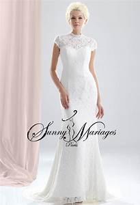 Robe Mariage Dentelle : robe de mariee sirene ou fourreau avec manches en dentelle ~ Mglfilm.com Idées de Décoration