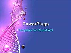 Powerpoint template a long purple colored single dna for Power plugs powerpoint templates
