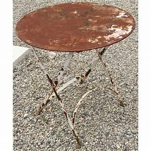 Table Fer Forgé Ronde : table en fer forg ronde pliante sur moinat sa antiquit s d coration ~ Teatrodelosmanantiales.com Idées de Décoration