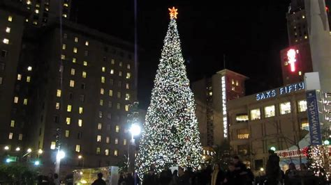 christmas tree union square san francisco california 2010 youtube