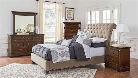 upholstered bedroom set charleston upholstered bedroom set standard furniture