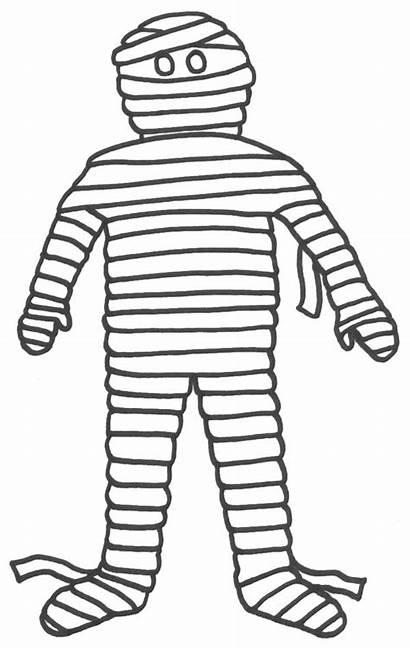 Mummy Egyptian Cartoon Coloring Clipart Pages Funny