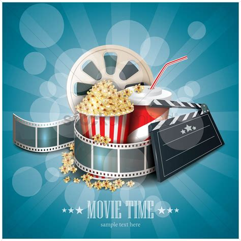 Movie Time Wallpaper Vector Image