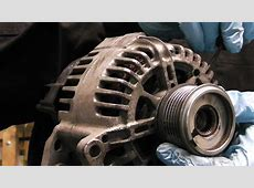 Alternator clutch pulley diagnose and replacing,VW AUDI