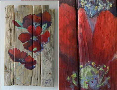 peinture sur planche de bois vente de tableaux en bois flott 233 boutique au fil de l eau