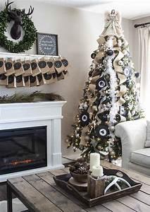 Deco Noir Et Blanc : d co sapin blanc nos id es pour un arbre de no l r ussi ~ Melissatoandfro.com Idées de Décoration