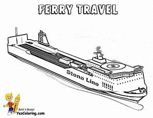 Stupendous Cruise Ship Coloring Pages