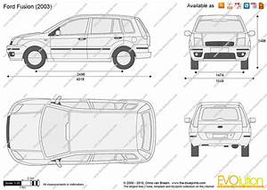 Ford Fusion Vector Drawing