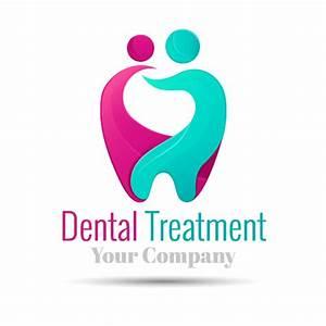 Dental treatment logo vector - Vector Logo free download