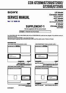 Sony Cdx-gt25 Service Manual