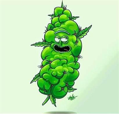 Morty Rick Weed Stoner Drawing Cartoon Cannabis
