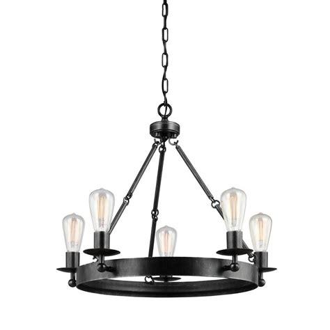 single chandelier sea gull lighting ravenwood manor 5 light stardust single