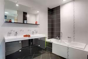 salle de bain claire sol gris salle de bain pinterest With salle de bains moderne