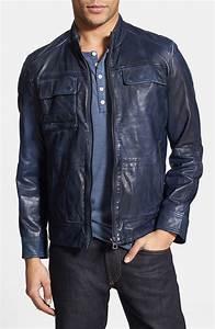 Jean Jacket Size Chart Men 39 S Leather Jacket Blue Color Jacket Biker Leather