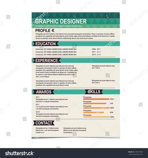 resume template cv creative background vector stock vector