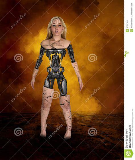android machine robot cyborg android machine stock image image