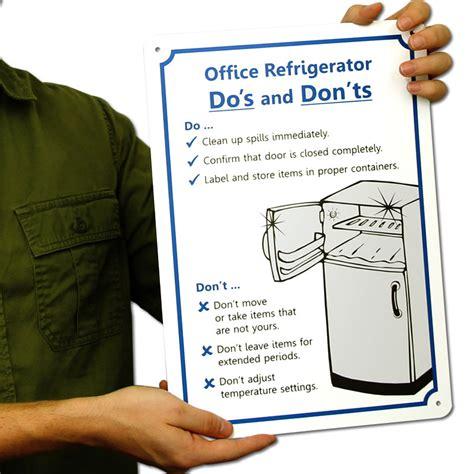 refrigerator cleanup fridge cleaning sign sku s5269