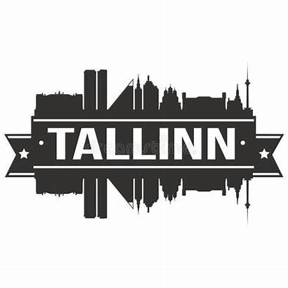 Tallinn Estland Estonia Icon Dell Skyline Shadow